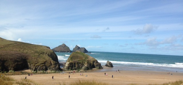 holywell bay in spring