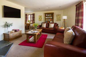 living room at tregongeeves